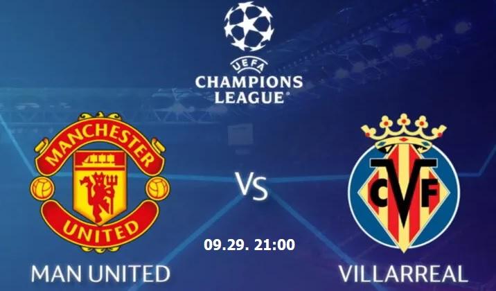 Manchester United-Villarreal Bajnokok Ligája